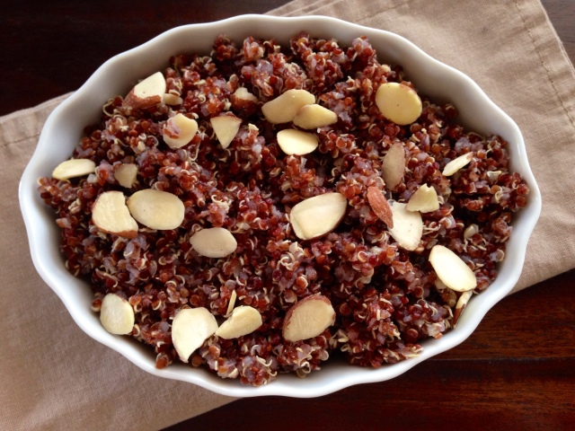 Red Quinoa with Slivered Almonds